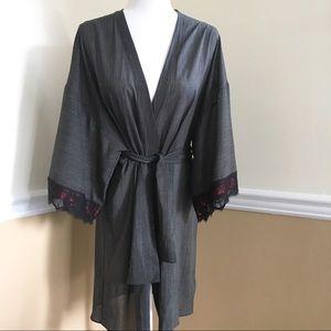 La Perla Silk Robe with Lace - Sz 2